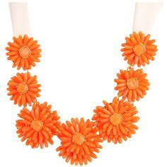 Kate Spade New York Gerbera Garden Statement Necklace ❤ liked on Polyvore