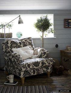 corner of a Swedish summerhouse / Country Life #1 / photo: Lina Ikse Bergman  Love this chair