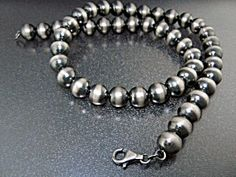 Native American Sterling Silver Navajo Pearls Necklace
