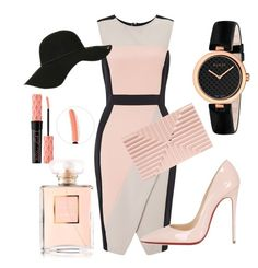 """Nude ""Beech"""" by thestylesnitch on Polyvore featuring Miss Selfridge, Christian Louboutin, Gucci, Lee Savage, Topshop and Benefit"
