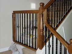 White Oak Banister Baby Gate | Baby Gates: Styled To Match Your Existing  Staircase