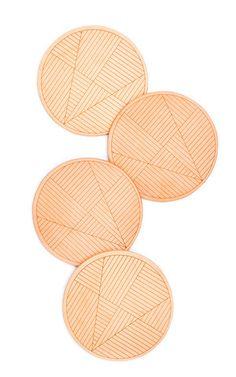 Sol Natural Leather Coaster Set