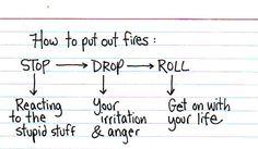 Extinguishing yourself...