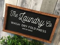 Laundry Decor, Laundry Room Signs, Laundry Rooms, Waste Paper, Mud Rooms, Paint Splash, Pretty Packaging, Hanging Signs, Vintage Farmhouse