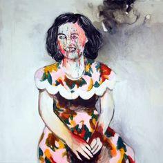 "Saatchi Art Artist Hanna Ilczyszyn; Painting, ""Sitting girl"" #art"