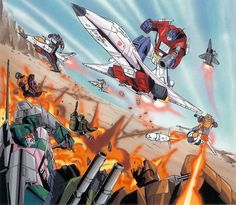 """no words should have sent a poet Image scanned from Transformers Visualworks, originally published in a issue of Japan's Tele-V Magazine. Transformers Decepticons, Transformers Characters, Transformers Optimus Prime, Gi Joe, Alex Chung, Transformers Collection, Comic Book Characters, Comic Books, Anime Comics"
