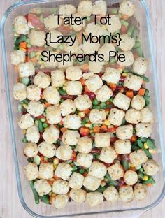 Tater Tot Shepherd's Pie ~ no cream of anything included!  Part of our 31 Days of Freezer Friendly Cooking | 5DollarDinners.com