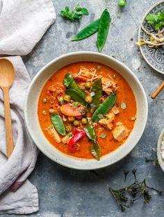 Rotes Thai Curry mit Tofu - vegan