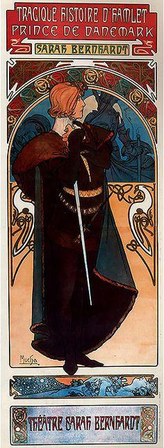 1899 Hamlet. Alphonse Mucha