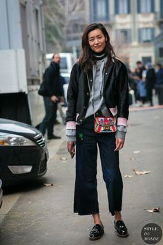 Tomboy outfits can be worn by anyone, as they can adapt to any style! Street Style 2017, Autumn Street Style, Street Chic, Street Styles, Tomboy Street Style, Fashion Week, Look Fashion, Winter Fashion, Fashion Trends