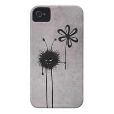 Evil Flower Bug Vintage iPhone 4 Cover $42.95 #iphone #iphonecase #iphonecover #cases #gothic