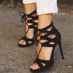 @Steve Benson MADDEN lace up sandals