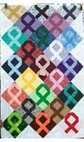 Cancer Awareness Quilt. Each color is used to enhance the awareness for different cancer and other diseases