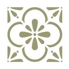 Wall Moroccan Tile Stencil T0055 for DIY Wall Decor Furniture Floor Craft - J BOUTIQUE STENCILS_RoyalWallSkins