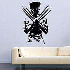 USA Decals4You | Superhero Wall Decals Silhouette Wolverine from X-Men Vinyl Decor Stickers MK0438