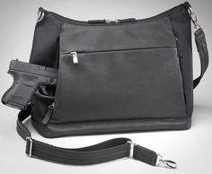 Gun Tote N Mamas Conceal Carry Large Hobo Handbag Holster Concealed Purse Available In Black Saddle Tan Or Red Pigskin