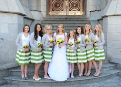 green and white striped skirts from Lexi's wedding from sandeeroyalty.com