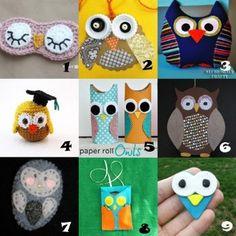 Link Love: Owl Crafts