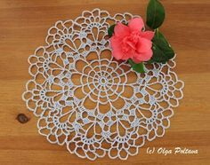 Very easy doily pattern. And yet, I managed to make a mistake! I noticed it just now, looking at the photo. I don't think I would...