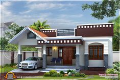 1 Floor House Plans Inspirational Home Plan Of Small House Kerala Home Design and Floor Plans Single Floor House Design, Home Design Floor Plans, House Front Design, Small House Design, Roof Design, Cool House Designs, Modern House Design, Facade Design, Bungalow Haus Design