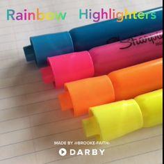 Fun with Rainbow Highlighters Tricks