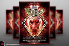 Tribal Music Festival Flyer Template by Thats Design Studio on Creative Market
