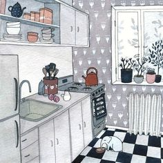 Imaginary Cottage pictures by Yelena Bryksenkova I   - posted on Content in a Cottage