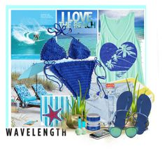 """""""Wavelength"""" by summersunshinesk7 ❤ liked on Polyvore featuring Balmain, Improvements, Pier 1 Imports, Luxor Linens, Havaianas, iHome, Rimmel, Eos and LMNT"""