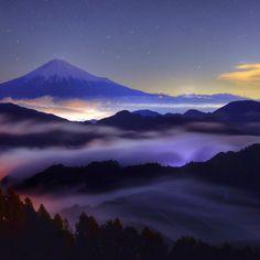 【山 Mountain】 shizuoka-ken, 日本で撮られた写真 Nightscape