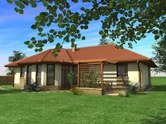 Egyszintes családi ház 155 m2 | Családiházam.hu Small House Design, Home Design Plans, My Dream Home, Cribs, Gazebo, Entrance, Outdoor Structures, Tiny House Interiors, Prefab Houses