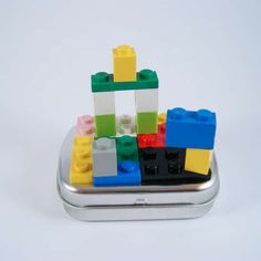 Pocket Travel Mini Lego Playset from mini Altoid tin