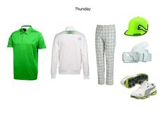 "RICKIE FOWLER (PUMA)  Rickie Fowler can always be counted upon to bring his ""A"" wardrobe to a major! Ricky is always stylishly on the edge ... he has great confidence in what he wears and it shows. Yes, you know exactly what he will wear on Sunday, but take a closer look at what he will sport the other days. The Thursday green look catches that patterned bottom treatment."