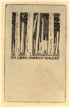 Vojtech Preissig - Ex Libris for Jindrich Waldes - etching 1921 Love the use of negative space Ex Libris, Lino Cuts, Etchings, Negative Space, Ephemera, Hand Drawn, Hand Carved, Tattoo Ideas, How To Draw Hands