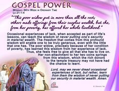 Gospel Power - Monday, 34th Week in Ordinary Time