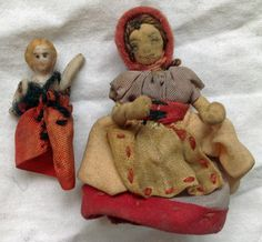 Miniature Cloth Doll Mother AND Baby |