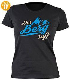 Damen-Shirt/Kletter/Wander/Bergsteiger/Girlie-Shirt: Der Berg ruft für Gipfelstürmer (*Partner-Link)