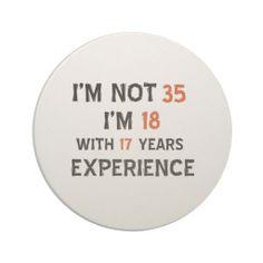 35th birthday designs coasters