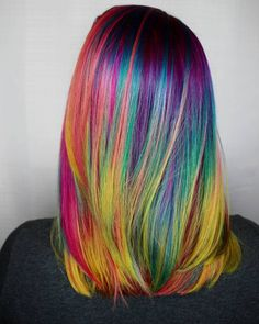 """862 Likes, 14 Comments - Seattle, WA Hairstylist (@kylierose_hairartist) on Instagram: """"Sitting here in Hawaii but still dreaming of all the rainbow hair I can't wait to create book…"""""""