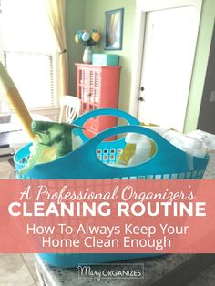 'How To Have A Perfectly Clean House All The Time...or something like that...!' (via Mary Organizes)