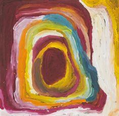Nora Wompi - Kunawarritji Ngurra (Seven Sisters Dreaming) - 91 x 91 cm - 14-313 http://www.aboriginalsignature.com/martumiliartpeintureaborigene/nora-wompi-kunawarritji-ngurra-seven-sisters-dreaming-91-x-91-cm-14-313
