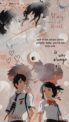 Anime Backgrounds Wallpapers, Anime Scenery Wallpaper, Cute Anime Wallpaper, Animes Wallpapers, Cute Wallpapers, Paper Wallpaper, Pink Wallpaper, Kimi No Na Wa Wallpaper, Your Name Wallpaper