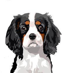 Cavalier King Charles spaniël waakbord van watch4dogz op Etsy
