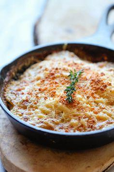 Parmesan Crusted Scalloped Potatoes - Damn Delicious.  #scallopedpotatoes #potatoes #parmesan