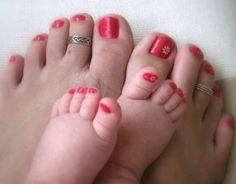 Baby painted toes to match mine!