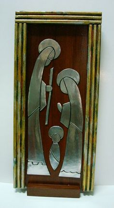T T modern nativity Aluminum Foil Art, Aluminum Can Crafts, Metal Crafts, Christmas Nativity Scene, Christmas Art, Nativity Scenes, Soda Can Crafts, Nativity Silhouette, Pewter Art