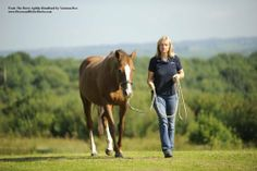 """Go for a walk and take your horse with you.  """"I can lead my horse Secret with a loose lead rope—she 'reads' me for direction rather than relying on a tug of the lead rope."""""""