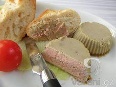 Domácí paštika z kuřecích jater - No Salt Recipes, Chicken Recipes, Snack Recipes, Cooking Recipes, Snacks, Slovak Recipes, Czech Recipes, Salty Foods, Brunch