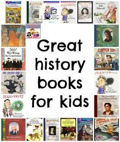 Are you looking for some great history books for kids? There are several authors and series you can always count on to have great history books for kids. History Books For Kids, History Lessons For Kids, Best History Books, Study History, Books For Boys, Childrens Books, American History Lessons, Women's History, British History