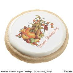 Shop Autumn Harvest Happy Thanksgiving Cookies created by BlueRose_Design. Thanksgiving Cookies, Happy Thanksgiving, Shortbread Cookies, Oreo Cookies, Square Cookies, Holiday Boutique, Cookie Gifts, Chocolate Covered Oreos, Fall Harvest