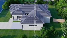 3 Bedroom House Plan - My Building Plans South Africa 4 Bedroom House Plans, House Floor Plans, Single Storey House Plans, House Plans South Africa, Tuscan House, Dream House Exterior, Building Plans, Open Plan, Master Suite